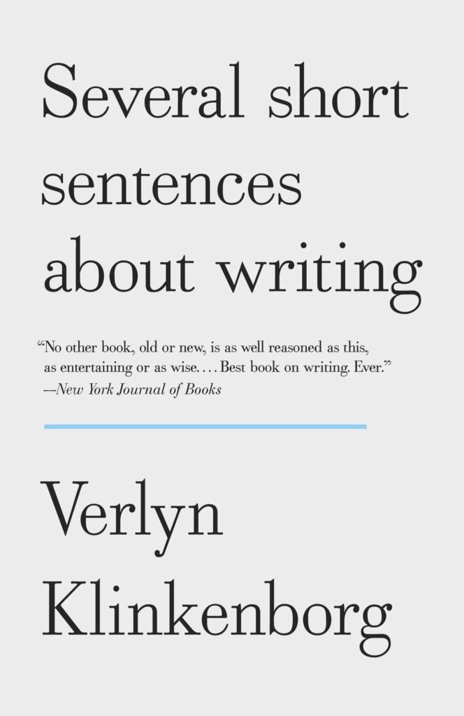 Book cover, Several Short Sentences About Writing by Verlyn Klinkenborg